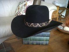 c54eb111986 Wrangler 10X beaver felt hat with eastern diamondback hat band Felt Hat