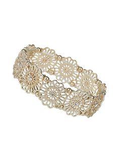 Flower Cut-out Bracelet