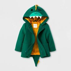 029de5157c8 Cat   Jack Toddler Boys  Faux Wool Overcoat Jacket - Cat   Jack Green  Dinosaur from TARGET  dinosaur  childrenswear