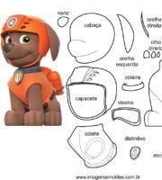 Molde de Personagens Zuma para EVA Feltro e Artesanato 6