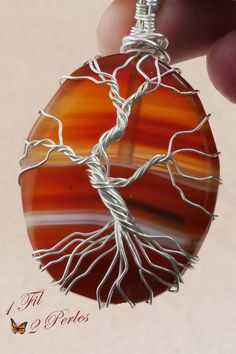 #arbredevie #treeoflife #pendant #1fil2perles #amour  #wirewrapping