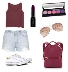 """""""Primavera"""" by nort-mei on Polyvore featuring Converse, Topshop, Monki, Sophie Hulme, Smashbox, women's clothing, women, female, woman and misses"""