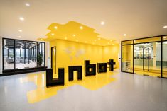 PRISM DESIGN were tasked with the DNA-inspired design for the unbot offices located in Shanghai, China. Unbot, a web marketing business specializing in Interior Design Website, Office Interior Design, Office Interiors, Shanghai, Best Office, Tiny Office, Front Office, Yellow Office, Startup Office