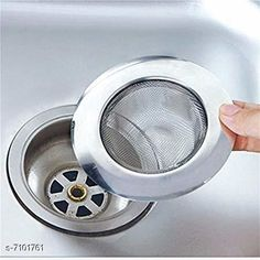 Funnels Rishtavia stainless Steel Strainer Kitchen Drain Basin Basket Filter Stopper Drainer Sink Jali, 9 cm Material: Stainless Steel Pack: Pack of 1 Length: 10 cm Breadth: 10 cm Height: 10 cm Country of Origin: India Sizes Available: Free Size   Catalog Rating: ★4.1 (819)  Catalog Name: Free Gift Designer Funnels CatalogID_1133508 C135-SC1650 Code: 261-7101761-993