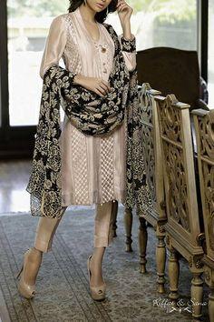 Silk Embroiderd Kameez by Riffat & Sana http://labelpk.com/boutiques/riffat-sana/