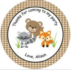Personalized 12 Baby Woodland Animal Shower or by TopperoftheWorld, $8.00