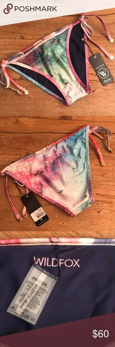 Wildfox Swim Space Cadet Bikini Bottom Authentic NEW, never worn. Hang Tags included.   🔵 YES I Bundle 🔴 NO I don't trade (I'm a recovering hoarder trying to clean out my closet) 🔵 I accept reasonable offers 🔴 NO low ball offers please 🔵 Please Use the Offer Button!    💜 Thank you for visiting my closet! Wildfox Swim Bikinis