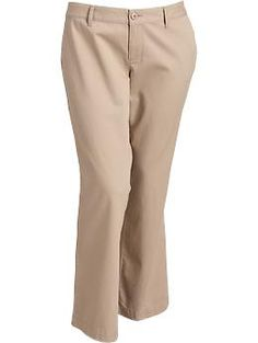 Womens Plus Boot-Cut Khakis - Everyday Steals