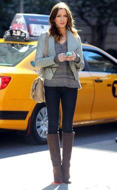 "Cute fall outfit (Katie Cassidy as Juliet Sharp on ""Gossip Girl,"" Season 6)"