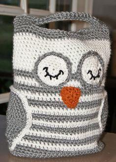 Crochet Pattern Handbag Owl Tote. $4.29