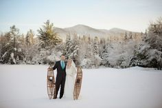 A winter wedding in the White Mountains of New Hampshire.
