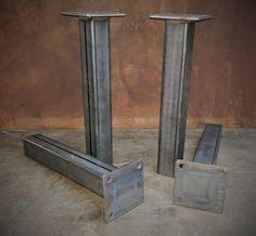Metal tubo patas juego de 4 1228 altura por SteelImpression en Etsy