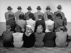 NYC. Macy's Department Store Detectives with Their Backs Turned So as Not to Reveal Their Identity.// Can you believe it?
