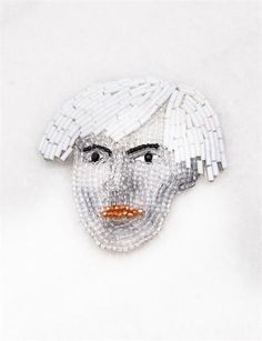 Marianne Batlle Large Brooches- Andy Warhol