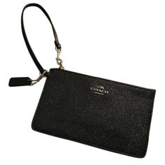 NWT Coach Wristlet Black sparkly Coach Wristlet new with tag Coach Bags Clutches & Wristlets