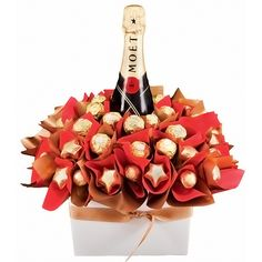 Moet and Chocolate Gift. Got my eyes on our guide dog auction for one of these.