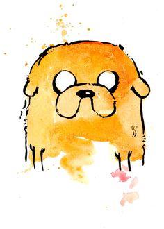 Jake the Dog v2 Mini Print 5x7 inch inch inkjet print / Adventure Time Fan Art