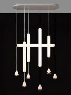 The best of Maison & Objet Suspension Puro, Lucie Koldova (Brokis) Luxury Lighting, Cool Lighting, Modern Lighting, Lighting Design, Pendant Lighting, Lighting Ideas, Chandelier Lamp, Ceiling Lamp, Wall Lamps