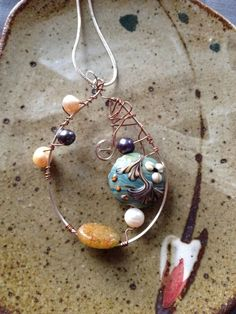 Sterling Silver Under The Sea pendant with by MarquisCreations