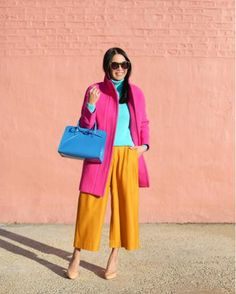 rosie clayton's colorful street style Color Blocking Outfits, Color Combinations For Clothes, Colour Blocking Fashion, Colourful Outfits, Colorful Fashion, Color Palette Challenge, Stylish Outfits, Fashion Outfits, Fashion Line