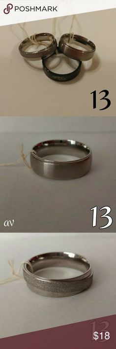 Mens Ring Size 13 Bundle Bundle of 3 rings Stainless steel Accessories Jewelry