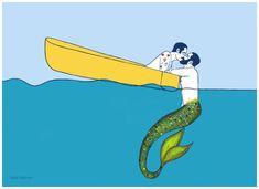 'The sailor and the Triton' by Vilela Valentin Framed Prints, Canvas Prints, Art Prints, Mental Health Art, Gay Art, Long Hoodie, Wood Print, Art Boards, Laptop Sleeves