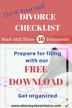 Top 10 financial mistakes to avoid during divorce divorcenet learn what documents you need to fill out your divorce papers this is a list of the 16 most common items you will need in a convenient checklist solutioingenieria Choice Image