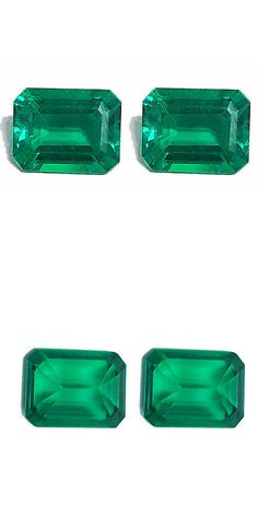 Lab-Created Emeralds 122956: Stunning Pair Of 2 Pcs 4.00 Ct Colombian Green Color Biron Lab Created Gemstone -> BUY IT NOW ONLY: $60 on eBay!