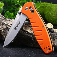 Ganzo G738-OR Axis Lock Pocket Knife #men, #hats, #watches, #belts, #fashion, #style