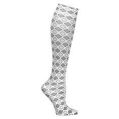 5698803616 Women's Celeste Stein Printed Mild Compression Knee High Stockings - Grey  Diamonds,…