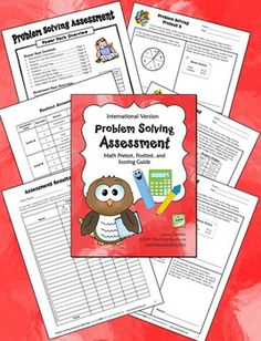 FREE Math Problem Solving Assessment Pack (International Version with metric measurement) - Includes 4 different levels with answer keys; has pretest and posttest for each level - Designed for grades 2 - 6