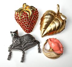 Vintage Lot AVON Brooches by delightfuljewels on Etsy