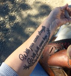 Tattoos with pain comes strength hope love for With pain comes strength tattoo