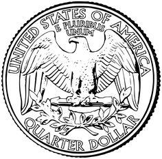 Back Of Quarter Clipart Black And White Back Of Quarter Clipart Clip art Clipart black and white Coins