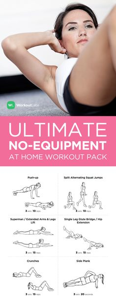 Ultimate at Home No Equipment Printable Workout Pack – visit http://WLabs.me/1u2C26Q to download!