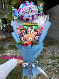 Please do not hesitate to whatsapp me if you require further information Surprise Delivery Penang Kedah Kl Whatsapp No : Candy Bouquet Diy, Valentine Bouquet, Gift Bouquet, Valentine Gifts, Cute Birthday Gift, Birthday Candy, Diy Birthday, Happy Birthday, Craft Gifts