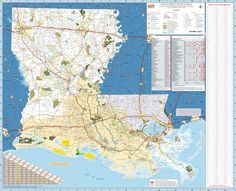 Large Detailed Roads And Highways Map Of Louisiana State With All