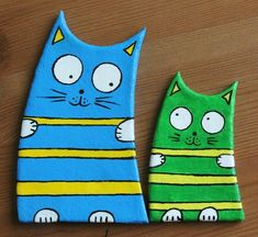Polymer Clay Cat, Polymer Clay Kunst, Ceramics Projects, Clay Projects, Cat Crafts, Arts And Crafts, Cat Template, Clay Cats, Paper Mache Clay