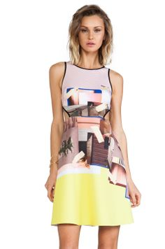 Clover Canyon New Home Cut Out Neoprene Dress in Multi from REVOLVEclothing