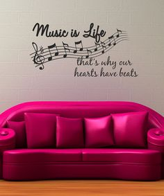 Loving this 'Music is Life' Wall Decal Set on #zulily! #zulilyfinds
