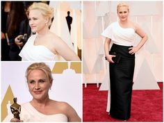 Patricia Arquette What wore Nominees for best supporting actress on Oscars 2015? See here: http://everydaytalks.com/oscars-red-carpet-nominees-for-best-supporting-actress/