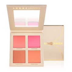 Get unzipped and unleash your natural beauty with Lorac's Unzipped Cheek Palette. This super-sexy pearlized palette comes with 2 matte and 2 shimmer universally flattering blushes: UNZIPPED, UNAPOLOGE