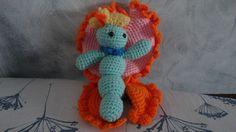 Papillon multicolore fait main crochet : Décoration pour enfants par hi-megi