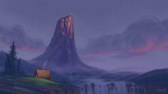 Broken Horn Mountain, Marin Olah on ArtStation at https://www.artstation.com/artwork/q0Wyy