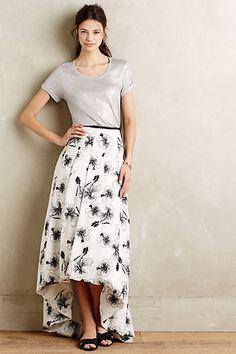 Sequined Hibiscus Skirt #anthropologie