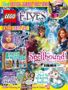 In this issue;  Spellbound! Magical adventures in Elvendale  Cool #Lego Cat Set!  4 Pretty Postcards  PLUS-  Colouring, Quizzes, Puzzles,Posters  Get the chance to win brand new Lego Elves Goodies!