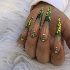Ugly Duckling Nails Inc. Glam Nails, Hot Nails, Fancy Nails, Beauty Nails, Glitter Nails, Hair And Nails, Perfect Nails, Gorgeous Nails, Pretty Nails