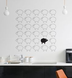 the counting sheep wall decal kids room pinterest counting sheep wall clings and wall decals