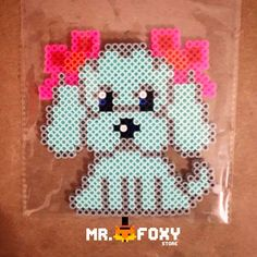 Puppy perler beads by Mr. Foxy Store