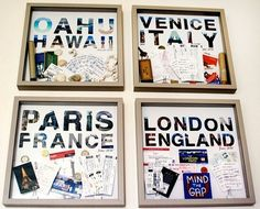 Put some of your most important #studyabroad memories in a frame and hang it for decoration! #diy #travel
